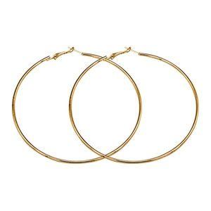 Jewelry - 3/$15! Gold Tone Round Hoop Earrings